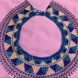 Mexican style hand beaded necklace